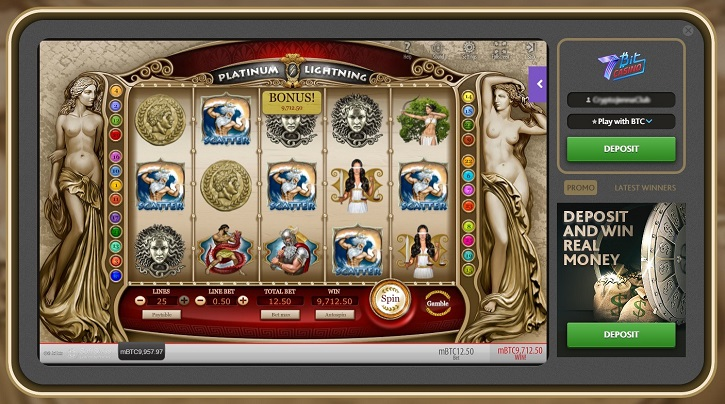 7bitcasino platinum lightning slot big winner