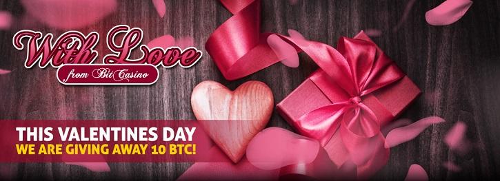 Bitcasino.io Valentines Day bitcoin raffle