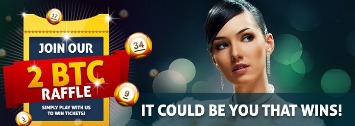 bitcasino august raffle 2 BTC promo