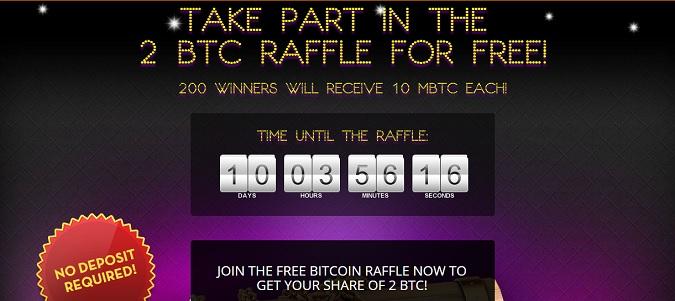 bitcasino 2 btc giveaway raffle