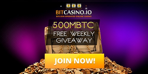 bitcasino.io 500 mBTC free giveaway