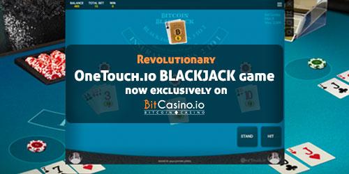 bitcasino.io onetouch blackjack