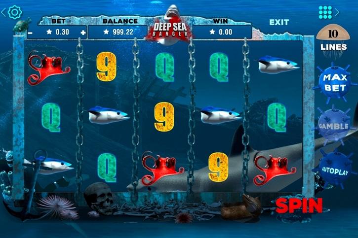 Deep Sea Danger slot screen