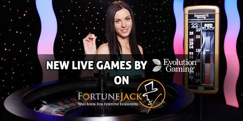 fortunejack casino evolution live games