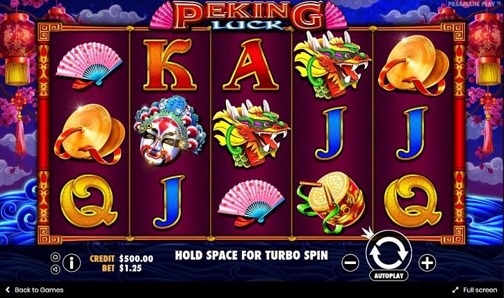 peking luck slot screen