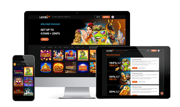 levelup casino website screens