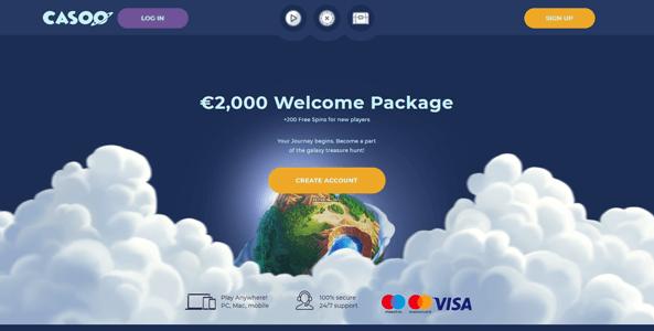 casoo casino website screen
